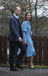 The Duke and Duchess of Cambridge during a visit to the SureStart Facility in Ballymena as part of their two day visit to Northern Ireland.