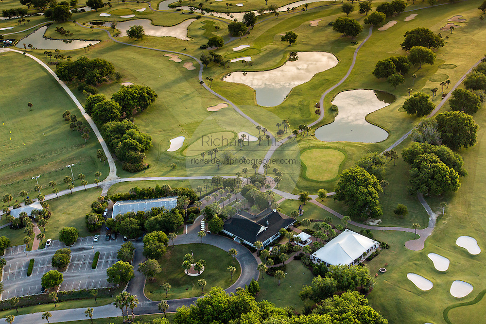 Aerial view of the Patriots Point golf course in Mount Pleasant, SC.
