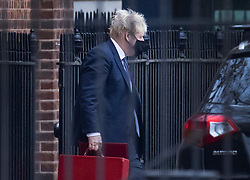 © Licensed to London News Pictures. 13/11/2020. London, UK. Prime Minister Boris Johnson leaves Downing Street by the back door. The Prime Minister's special advisor Dominic Cummings had announced he is to step down by Christmas. Yesterday Downing Street Director of Communications Lee Cain said he would also leave his post. Photo credit: Peter Macdiarmid/LNP