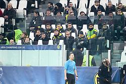 24.02.2015, Juventus Stadium, Turin, ITA, UEFA CL, Juventus Turin vs Borussia Dortmund, Achtelfinale, Hinspiel, im Bild Die Dortmunder Ersatzbank // during the UEFA Champions League Round of 16, 1st Leg match between between Juventus Turin and Borussia Dortmund on at the Juventus Stadium in Turin, Italy on 2015/02/24. EXPA Pictures © 2015, PhotoCredit: EXPA/ Eibner-Pressefoto/ Kolbert<br /> <br /> *****ATTENTION - OUT of GER*****
