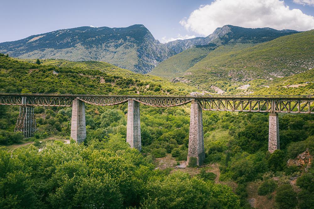 The rail bridge of Gorgopotamos in central Greece