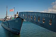 Tourists aboard the USS Bowfin Submarine, Pearl Harbor, Oahu, Hawaii