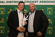Greg Hay is named Stags Plunker Shield player of the year, Central Districts Cricket Awards Dinner, The Old Church, Napier, Friday, March 22, 2019. Copyright photo: Kerry Marshall / www.photosport.nz