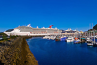 Carnival Spririt cruise ship docked in Ketchikan, Southeast Alaska USA