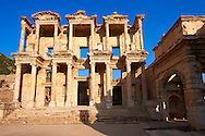 Picture of The library of Celsus. Images of the Roman ruins of Ephasus, Turkey. Stock Picture & Photo art prints 1 .<br /> <br /> If you prefer to buy from our ALAMY PHOTO LIBRARY  Collection visit : https://www.alamy.com/portfolio/paul-williams-funkystock/ephesus-celsus-library-turkey.html<br /> <br /> Visit our TURKEY PHOTO COLLECTIONS for more photos to download or buy as wall art prints https://funkystock.photoshelter.com/gallery-collection/3f-Pictures-of-Turkey-Turkey-Photos-Images-Fotos/C0000U.hJWkZxAbg