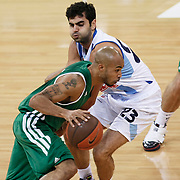 Panathinaikos's David Kyle LOGAN (L) during their Two Nations Cup basketball match Fenerbahce Ulker between Panathinaikos at Abdi Ipekci Arena in Istanbul Turkey on Sunday 02 October 2011. Photo by TURKPIX