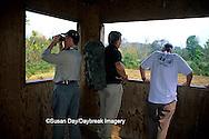 01720-039.18 Birdwatchers in wildlife viewing blind Staunton River Battlefield State Park Virginia Birding & Wildlife Trail VA