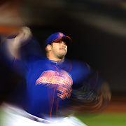 Pitcher Matt Harvey, New York Mets, pitching during the New York Mets Vs New York Yankees MLB regular season baseball game at Citi Field, Queens, New York. USA. 20th September 2015. Photo Tim Clayton