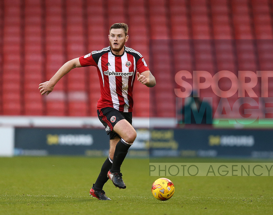 Jack O'Connell of Sheffield Utd during the English League One match at Bramall Lane Stadium, Sheffield. Picture date: December 26th, 2016. Pic Simon Bellis/Sportimage