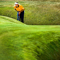 The Netherlands, Zandvoort, 14-09-2014.<br /> Golf, KLM Open 2014.<br /> Joost Luiten, the dutch player who won this tournament last year.<br /> Photo : Klaas Jan van der Weij