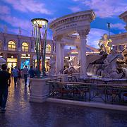 Visitors stroll the Forum Shops at Caesars Palace in Las Vegas, Nevada on Monday, October 19, 2020. (Alex Menendez via AP)