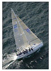 The third days racing at the Bell Lawrie Yachting Series in Tarbert Loch Fyne ..Perfect conditions finally arrived for competitors on the three race courses...Nigel Biggs helming First 31.7  Checkmate GBR66R