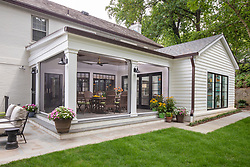 4100 52nd Street Family Room and Screened porch with automatic screens