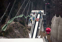 String wind cancelled the Final Round during Ski Flying Hill Men's Individual Competition at Day 4 of FIS Ski Jumping World Cup Final 2017, on March 26, 2017 in Planica, Slovenia. Photo by Vid Ponikvar / Sportida