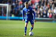 Joe Bennett of Cardiff City in action. EFL Skybet championship match, Cardiff city v Birmingham City at the Cardiff city stadium in Cardiff, South Wales on Saturday 10th March 2018.<br /> pic by Andrew Orchard, Andrew Orchard sports photography.