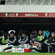 Besiktas's coach Carlos Carvalhal (R) during their Turkey Cup matchday 3 soccer match Besiktas between Gaziantepspor BSB at the Inonu stadium in Istanbul Turkey on Wednesday 11 January 2012. Photo by TURKPIX