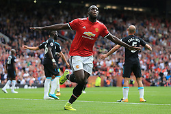13th August 2017 - Premier League - Manchester United v West Ham United - Romelu Lukaku of Man Utd celebrates after scoring their 2nd goal - Photo: Simon Stacpoole / Offside.