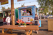 Tiera Del Sol Food cart specializes in Tlayudas, a mexican type pizza.