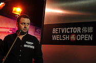 Stephen Maguire of Scotland during his match against  Joel Walker. Bet Victor Welsh open snooker at the Newport centre in Newport, South Wales on Thursday 27th Feb 2014.<br /> pic by Andrew Orchard, Andrew Orchard sports photography.