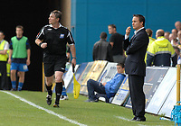 Photo: Ashley Pickering.<br /> Gillingham v Leeds United. Coca Cola League 1. 29/09/2007.<br /> Leeds manager Dennis Wise watches from the sideline in the first half before being sent off