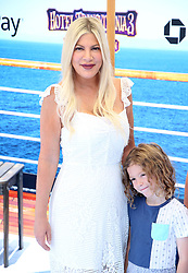 "Tori Spelling at the premiere of ""Hotel Transylvania 3: Summer Vacation"" held at the Westwood Village Theatre in Los Angeles"