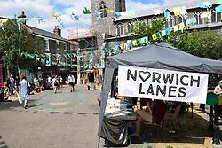 Music on St Gregory's Green, Norwich Lanes, Norfolk UK July 2018