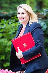 London, July 18th 2017. Secretary of State for Culture, Media and Sport Karen Bradley attends the last cabinet meeting before the Parliamentary summer recess at Downing Street in London.