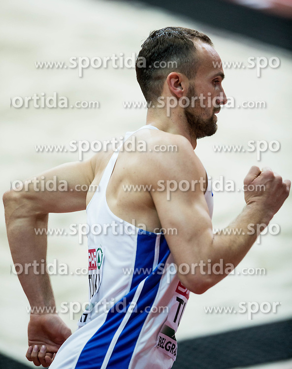 Amel Tuka of BiH competes in the Men's 800 metres heats on day one of the 2017 European Athletics Indoor Championships at the Kombank Arena on March 3, 2017 in Belgrade, Serbia. Photo by Vid Ponikvar / Sportida