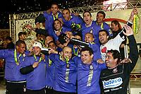 20090701: PORTO ALEGRE, BRAZIL - Internacional vs Corinthians: Brazilian Cup 2009 - Final - 2nd Leg. In picture: Corinthians players celebrating with the trophy. PHOTO: CITYFILES