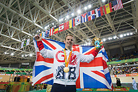 20160909 Copyright onEdition 2016©<br /> Free for editorial use image, please credit: onEdition<br /> <br /> Cyclist Jody Cundy MBE (C4-5) from Wisbech, Cambridgeshire,wins a gold medal competing for ParalympicsGB at the Rio Paralympic Games 2016.<br />  <br /> ParalympicsGB is the name for the Great Britain and Northern Ireland Paralympic Team that competes at the summer and winter Paralympic Games. The Team is selected and managed by the British Paralympic Association, in conjunction with the national governing bodies, and is made up of the best sportsmen and women who compete in the 22 summer and 4 winter sports on the Paralympic Programme.<br /> <br /> For additional Images please visit: http://www.w-w-i.com/paralympicsgb_2016/<br /> <br /> For more information please contact the press office via press@paralympics.org.uk or on +44 (0) 7717 587 055<br /> <br /> If you require a higher resolution image or you have any other onEdition photographic enquiries, please contact onEdition on 0845 900 2 900 or email info@onEdition.com<br /> This image is copyright onEdition 2016©.<br /> <br /> This image has been supplied by onEdition and must be credited onEdition. The author is asserting his full Moral rights in relation to the publication of this image. Rights for onward transmission of any image or file is not granted or implied. Changing or deleting Copyright information is illegal as specified in the Copyright, Design and Patents Act 1988. If you are in any way unsure of your right to publish this image please contact onEdition on 0845 900 2 900 or email info@onEdition.com