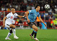 Fotball<br /> Egypt v Italia<br /> Foto: DPPI/Digitalsport<br /> NORWAY ONLY<br /> <br /> FOOTBALL - CONFEDERATIONS NATIONS CUP 2009 - GROUP B - 1ST ROUND - EGYPT v ITALY - 18/06/2009<br /> <br /> LUCA TONI (ITA) / WAEL GOMAA (EGY)