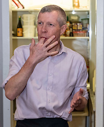 Pictured: Willie Rennie gets into a sticky situation<br /><br />Scottish Liberal Democrat leader Willie Rennie visited the Fudge Kitchen on Edinburgh's Royal Mile to talk about the need to protect Scottish businesses from independence.  I don't think master fudge maket Will Tebbutt needs t6o worry about his job.<br /><br />Ger Harley | EEm 2 December 2019