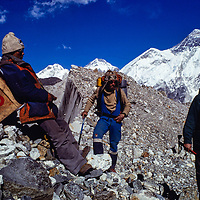 Hiding a case of Canadian Club below Mount Everest in Nepal, part of a failed ad campaign.