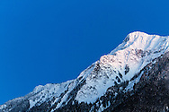 The last bit of daylight on Mount Cheam from Agassiz, British Columbia, Canada