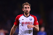 Craig Dawson of West Bromwich Albion looks on .Premier league match, Leicester City v West Bromwich Albion at the King Power Stadium in Leicester, Leicestershire on Monday 16th October 2017.<br /> pic by Bradley Collyer, Andrew Orchard sports photography.
