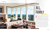 Rising high above the city, this home built by the Mann family was photographed on assignment for Boulevard Magazine.