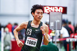 Endo Hyuga of Japan sets a National record in 5000 meters indoors 13:27.81<br /> Boston University David Hemery Valentine <br /> Indoor Track & Field , Nike,
