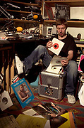 Gilles Peterson Radio DJ at home 2004