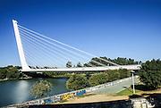 Alamillo Bridge Seville, Andalucia, Spain. Architect Santiago Calatrava.