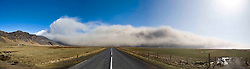 The effects of the dust cloud from the Eyjafjallajoekull erupting volcano in Iceland.  Panoramic pic from three images..©2010 Michael Schofield. All Rights Reserved.