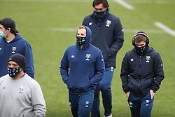Bristol Bears players inspect the pitch before the game - Mandatory by-line: Matt Impey/JMP - 26/12/2020 - RUGBY - Twickenham Stoop - London, England - Harlequins v Bristol Bears - Gallagher Premiership Rugby