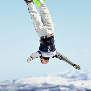 Hans Gardner (Orchard Park, NY) performs aerial acrobatics during the 2009 Sprint US Freestyle Championships held at the Utah Olympic Park in Park City on March 8, 2009. Gardner scored 151.20 points during the event which was enough to secure 5th place overall.