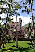 Royal Hawaiian Hotel and gardens. Waikiki, Honolulu, Hawaii