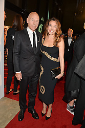 PATRICK STEWART and SUNNY OZELL at the GQ Men of The Year Awards 2016 in association with Hugo Boss held at Tate Modern, London on 6th September 2016.