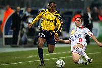 Fotball<br /> Frankrike<br /> Foto: DPPI/Digitalsport<br /> NORWAY ONLY<br /> <br /> FOOTBALL - FRENCH CHAMPIONSHIP 2007/2008 - L1 - FC SOCHAUX v AS NANCY LORRAINE - 15/03/2008 - KANDIA TRAORE (SO) / BENJAMIN GAVANON (NA)
