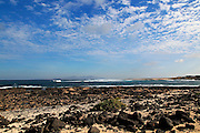Coastline near Majanicho on north coast of Fuerteventura, Canary Islands, Spain
