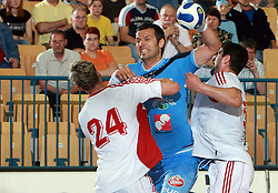 Renato Vugrinec of Slovenia at  handball game between men national teams of Slovenia and Slovakia, first qualification game for the World Chamionship 2009, on June 7, 2008, in Arena Zlatorog, Celje, Slovenija. Result: 33 : 33. (Photo by Vid Ponikvar / Sportal Images)
