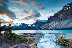 Sunrise at Bow Lake in Banff National Park
