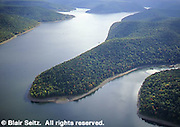 Allegheny Reservoir aerial, Allegheny National Forest, Warren Co., PA. Aerial Photograph Pennsylvania