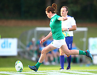 Rugby Union - 2017 Women's Rugby World Cup (WRWC) - Pool C: Ireland vs. Australia<br /> <br /> Ireland's Nora Stapleton kicks a conversion, at the UCD Bowl, Dublin.<br /> <br /> COLORSPORT/KEN SUTTON